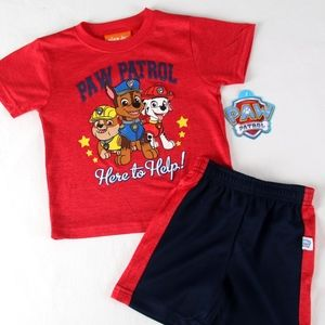"""PAW PATROL """"Here to Help"""" Short Set 24 mo NEW"""